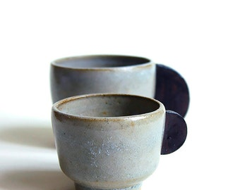 Coffee Tea Cups Ceramic handmade Only small cup remaining