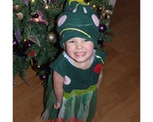 child's Christmas Tree costume girl  baby toddler