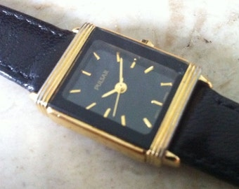 Stunning Women's Art Deco Style Quartz Battery Watch - Gorgeous Black and Gold Color, Pulsar Quartz Battery, Works Great, FREE SHIPPING