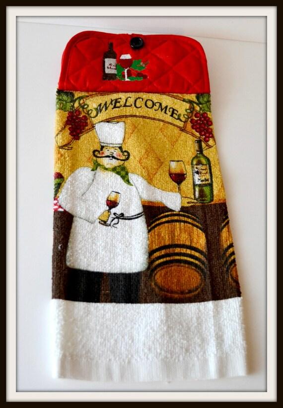 Embroidered Kitchen Chef Hand Towel Kitchen By