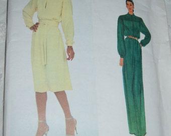 Vogue Paris Original  Vogue 2352 Ninna Ricci  Misses' Dress and Belt  Sewing Pattern - UNCUT Size  12