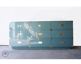 Campaign Dresser - 9-drawer – Built2Order Furniture w/Automotive Finishes (Your Choice of Color)