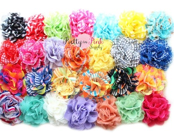 """GRAB BAG- Shredded Lace Flower 3.75""""- You Choose Quantity- Lace Flowers"""