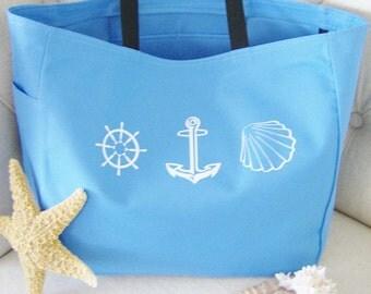 Beach themed bag   Etsy