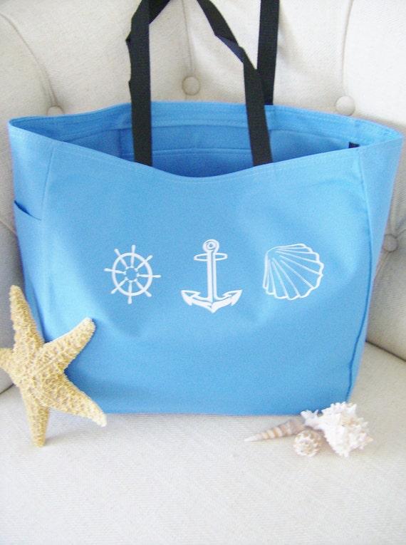 Nautical beach themed tote bag nautical themed gift
