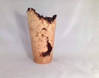 Maple Burl Natural Edge Vase