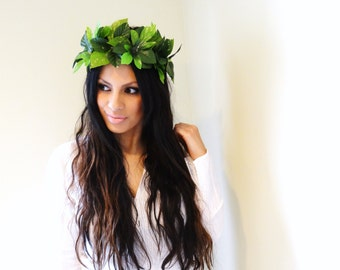 LEAF Crown, Boho Headband, Rustic Hair Accessory, Woodland