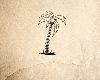 Palm Tree #2 Rubber Stamp