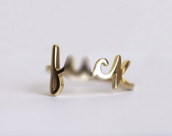 Gold F#ck Ring - MATURE LISTING