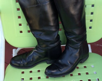 Very Vintage Black riding boots Womens size 6