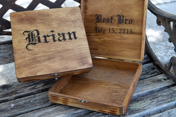 Custom Wedding Accessories: Rustic Cigar BoxRustic Wedding ...