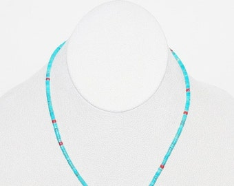 Turquoise Beaded Necklace                                                   - T113