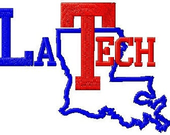 LA Tech Embroidery Design