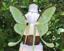 Custom order green Luna moth wings