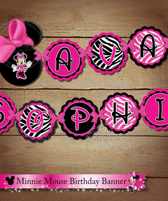Items Similar To PRINTABLE Minnie Mouse NAME To Match