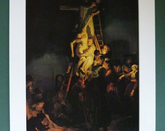 Rembrandt Print, Descent from the Cross, Available Framed, Crucifixion Art, Catholic Gift, Dutch Golden Age, Christian Wall Art Jesus Christ