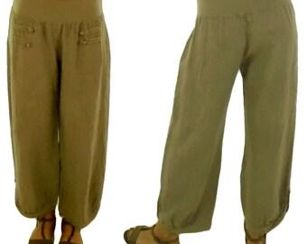 HF400BG40 pants linen layered look Gr. 40 beige