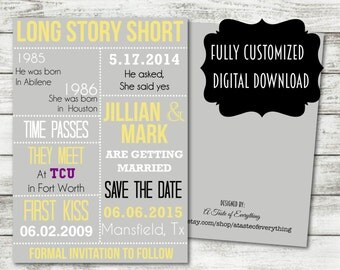 Printable Wedding Invitation Suite Save The By