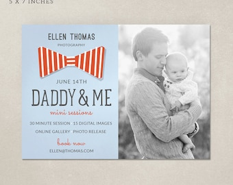 Father's Day Mini Session Marketing Board MF002 - Template for Photographers - PSD 5x7