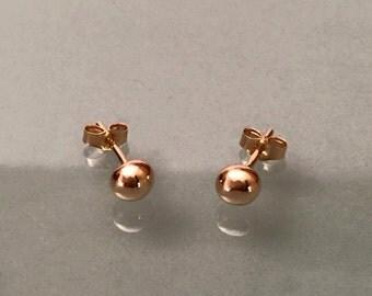 14k Dot Earrings, 14K Ball Earrings, 14k ball stud, 14k gold earrings, 14k gold stud, 14k earrings, solid gold earrings