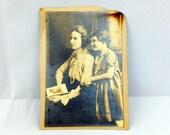 Vintage Photograph, 1910s Mother & Daughter, Antique Paper Ephemera