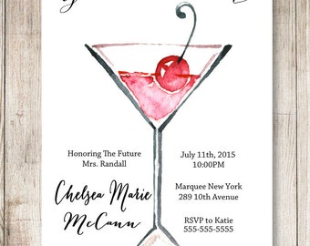 Girls Night Out Bachelorette Party Invitation, 5x7 or 4x6 Printable #502