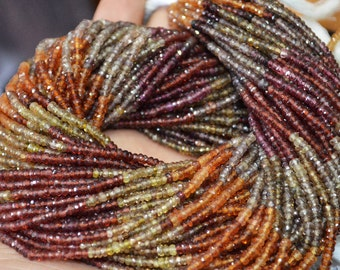 10 Strands AAA Quality Tundra Sapphire Rondelle Faceted 3-3.5 mm