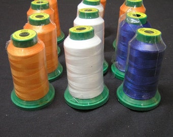 Poly-X40 Polyester Machine Embroidery Thread in 3 Colors, 1000 Meters Each, For All Embroidery Projects & Crafts, New Embroidery Thread