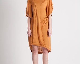 30% Season Off_Monica Kate Unsymmetrisch Tencel Dress_Burnt Orange
