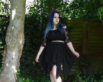 Wisp skirt - chiffon double circle skirt with handkerchief hem