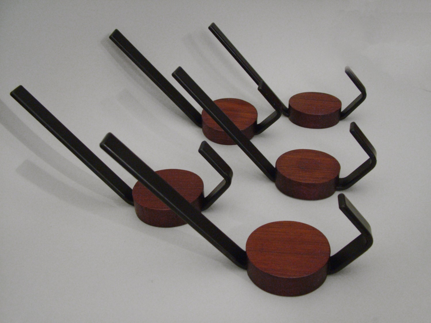 Vintage coat hooks mid century modern teak hook coat hooks for Contemporary coat hooks