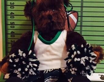Hand-made sports fan teddy bear