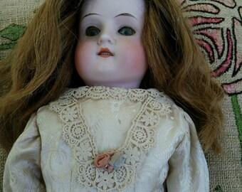 Antique bisque head, bisque head doll, German bisque doll, Antique German doll, Vintage doll, Collectible doll, Christmas doll, German doll
