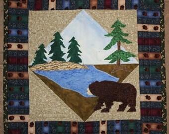 Mountain Bear Wall Hanging