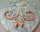 wire wrapped heart  jewelry handmade - wire wrapped Earrings handmade