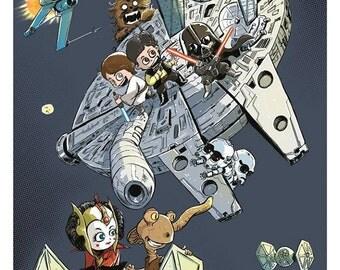Baby Star Wars Art Print by Ferry Ickhwano