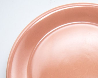 Large Nancy Calhoun Light Peach Chop Plate