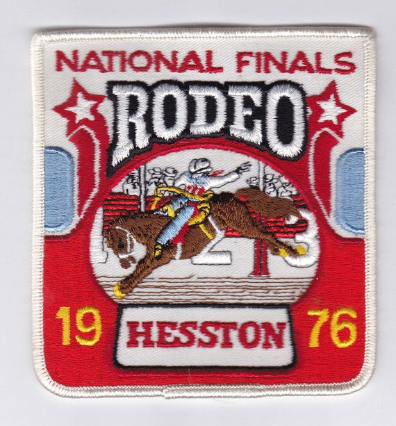 1976 Hesston National Finals Rodeo Cowboy Patch
