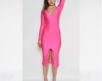 Vintage 90's Spandex Pink Dress