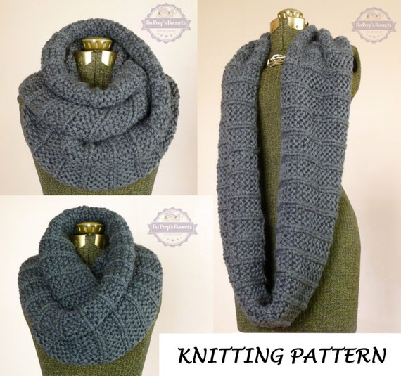 Knitting Pattern Infinity Scarf Bulky : KNITTING PATTERN The Celebrity Scarf, Knit Infinity Scarf ...