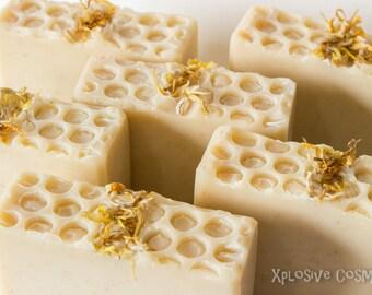 Honey Bee Bar Soap - Handmade Soap, Homemade Soap, Coconut Milk Soap, Shea Butter, Aloe Vera, Vegan Soap, Oatmeal Soap, Soaps, Calendula