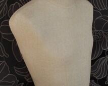 Male Mannequin Hemp Half torso bust display for Neckties Table Top