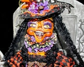HAFAIR Halloween Artist Bird Cage Doll by Carly Smith of Boggy Bottom Bayou as Seen In Art Doll Quarterly!!! Lights UP!, One of a Kind! FAAP