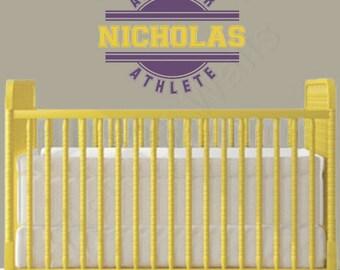 Sports Wall Decal - Boys Wall Decal - Baby Boy Nursery Wall Decal - Boys Bedroom Wall Decal - Baby Boy Nursery Decor - Vinyl BN020