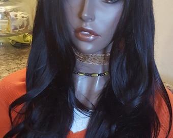 "Virgin Brazilian U part Wig 24"" Human Hair wig  custom made"