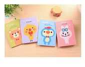 Kawaii Animal Notebooks - bear, penguin, rabbit, duck notebook, kawaii teddy bear, note pad, jotter book, diary, mini notebook