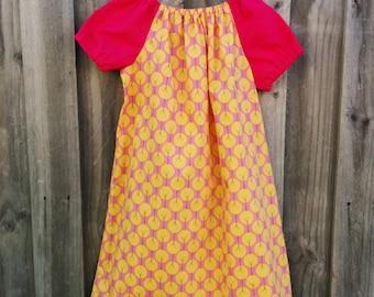 Girls Peasant Style Dress. Treelined Petals. Size 4