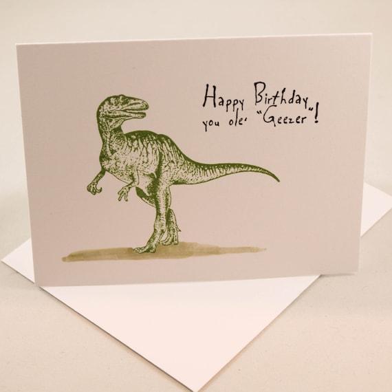 Birthday Card Funny Birthday Card Dinosaur Birthday Card