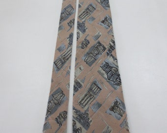 Karl Lagerfeld Abstract Ancient Pattern Neck Tie G
