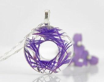 Flower Necklace, Resin Flower, Necklace, Resin Necklace, Flower, Resin Flower Jewelry Resin Jewelry Bridesmaid Jewelry,Real Flower Necklace